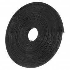 15m 8mm/10mm/12mm/15mm/20mm Expandable Wire Cable Sleeving Sheathing Braided Loom Tubing Nylon