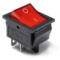 50pcs Red Light Lamp 4 Pin DPST ON-OFF Rocker Boat Switch 13A/250V 20A/125V