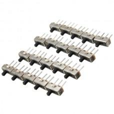 60pcs SS12D00G3 2 Position SPDT 1P2T 3 Pin PCB Panel Mini Vertical Slide Switch