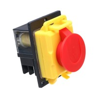 230V 16A Saftey Single Phase Magnetic Switch Red Cut off NVR Switch with Emergency Stop for KJD