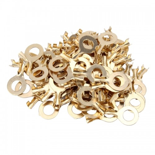 100pcs 8.0mm DIY Ring Terminal Connectors, Cable size: 1-3.0mm2 (100pcs in one packaging, the price is for 100pcs)