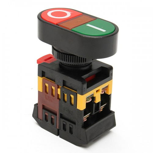 220V Red Green Power ON/OFF Start Stop Push Button Light Indicator Switch