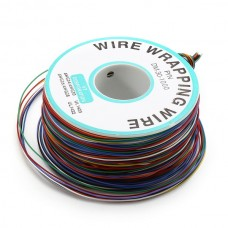 3pcs 0.55mm 8 Color Circuit Board Single-Core Tinned Copper Electronic Wire Fly Line Jumper Cable