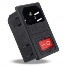 250V 15A AC 3 in 1 Fuse Power Supply Socket Connector Rocker Switch