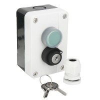 Wired ABS Weatherproof Push Button Switch With Keys for Automatic Gate Opener