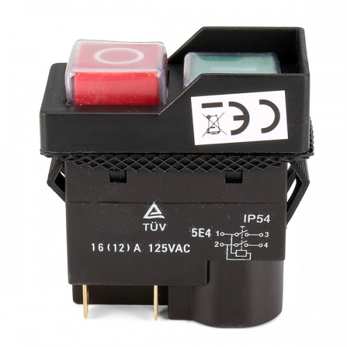 125V KJD17 IP54 Switch 4 Pin No-Voltage Release Switch Plastic