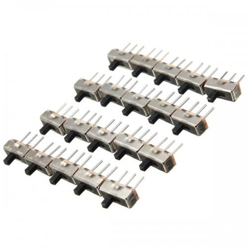 200pcs SS12D00G3 2 Position SPDT 1P2T 3 Pin PCB Panel Mini Vertical Slide Switch