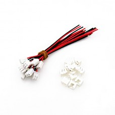 10Pcs XH Pitch 2.54mm Single-Head 2Pin Wire To Board Connector 15cm 24AWG With Socket
