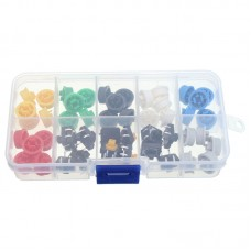 3 x 50pcs Tactile Push Button Switch Momentary Tact & Cap Assorted Kit 12x12x7.3mm KeyCaps