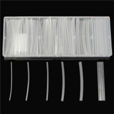150Pcs Transparent Polyolefin 2:1 Halogen-Free Heat Shrink Tubing Kit 6 Sizes