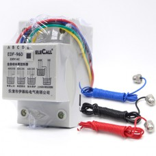 DF96D AC220V 5A Din Rail Mount Float Switch Auto Water Level Controller with 3 Probes