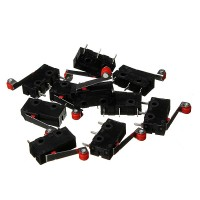200Pcs Micro Limit Switch With Roller Lever KW12-3 Open/Close Switch 5A 125V