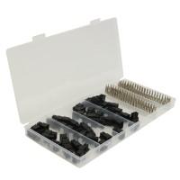 50 Pcs 5557 6 Pin ATX EPS PCI-E Connector With 300 Pcs Terminal Crimp Pin Plug In Box
