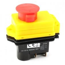 250V 16A KJD17B IP54 NVR Switch With Emergency Stop 4 Pin Dustproof Waterproof Panel