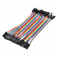 2.54mm 11cm Row of 40 Pcs Dupont Cable Jumper Wire 1P-1P Pin Connector Female to Female